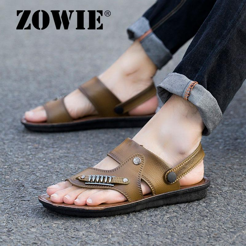 ZOWIE men Sandals Flip-flop Dual-use men Beach Sandals men New Fashion Casual
