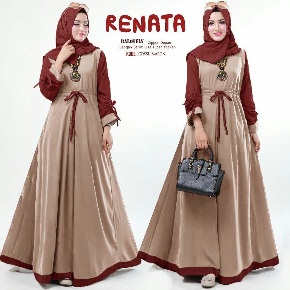 HoneyClothing Dress Muslim Renisa    Baju Muslim    Gamis Muslimah    Gamis  Trendy 00533c1d9d