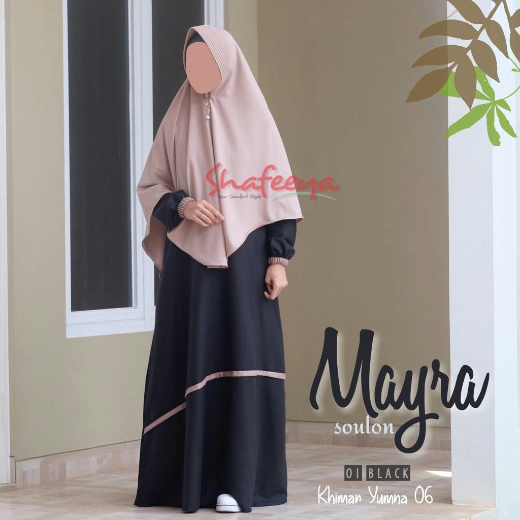 (TERBARU) Shafeeya - Gamis Mayra Kode 01-03 (Maroon XXL)