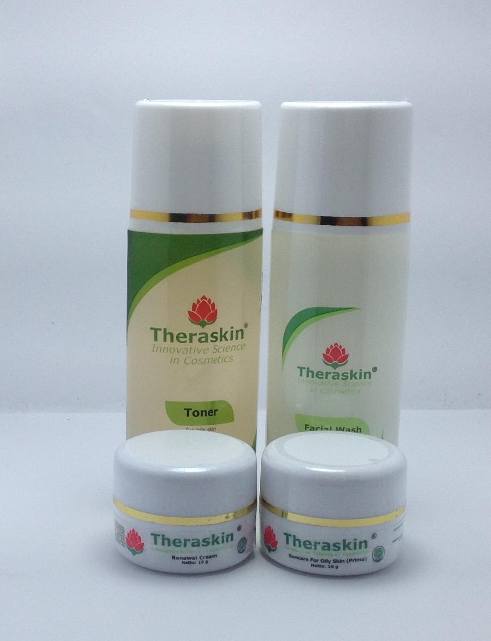 Buy Sell Cheapest Paket Theraskin Oily Best Quality Product Deals Acne White Lengkap Sangjawara Promo Whitening Kulit Berminyak