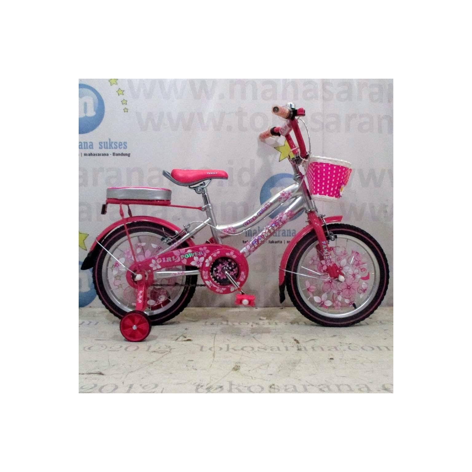 16in Family Girl Power CTB Sepeda Anak Perempuan Usia 4 - 7 Tahun