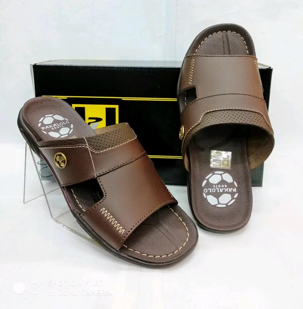 Sandal Kulit Pakalolo N0935 - Brown