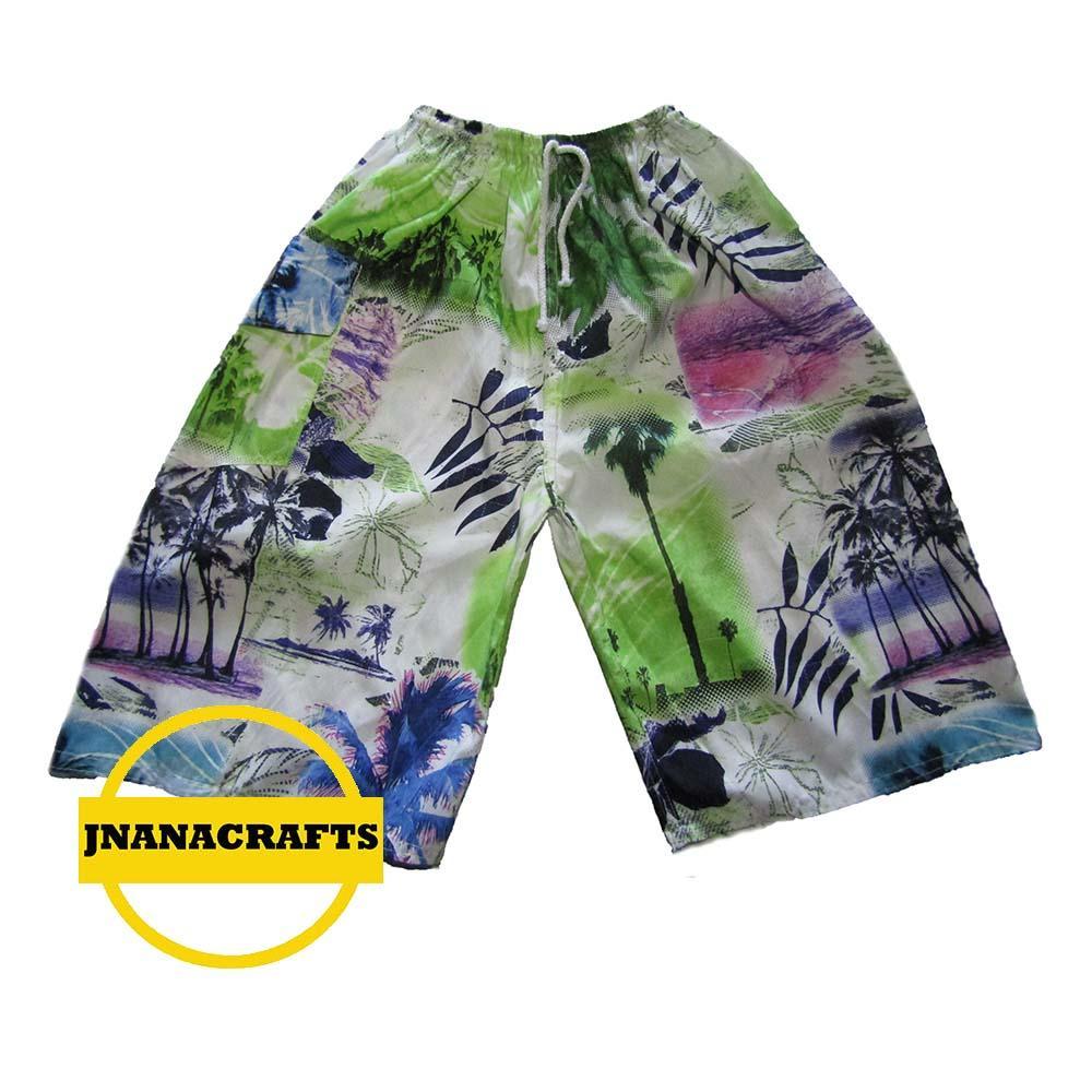 Gudang Fashion Celana Pantai Motif Keren Dan Gaul Ungu Kombinasi3 Pendek Distro Pria Polyester Multi Colour Cln 736