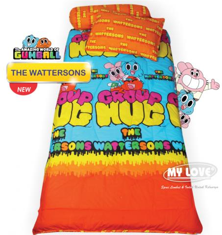 Sprei My Love 120x200 Wattersons Gumball ( Single size ) Exclusive