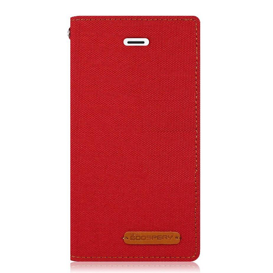 Mercury New Canvas Flip Case for Apple iPhone 6 Plus / 6s Plus - Red