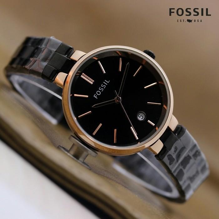 Jam Tangan Wanita / Cewek fashion Fossil Glossy - rantai model terbaru dan terlaris free box dan baterai