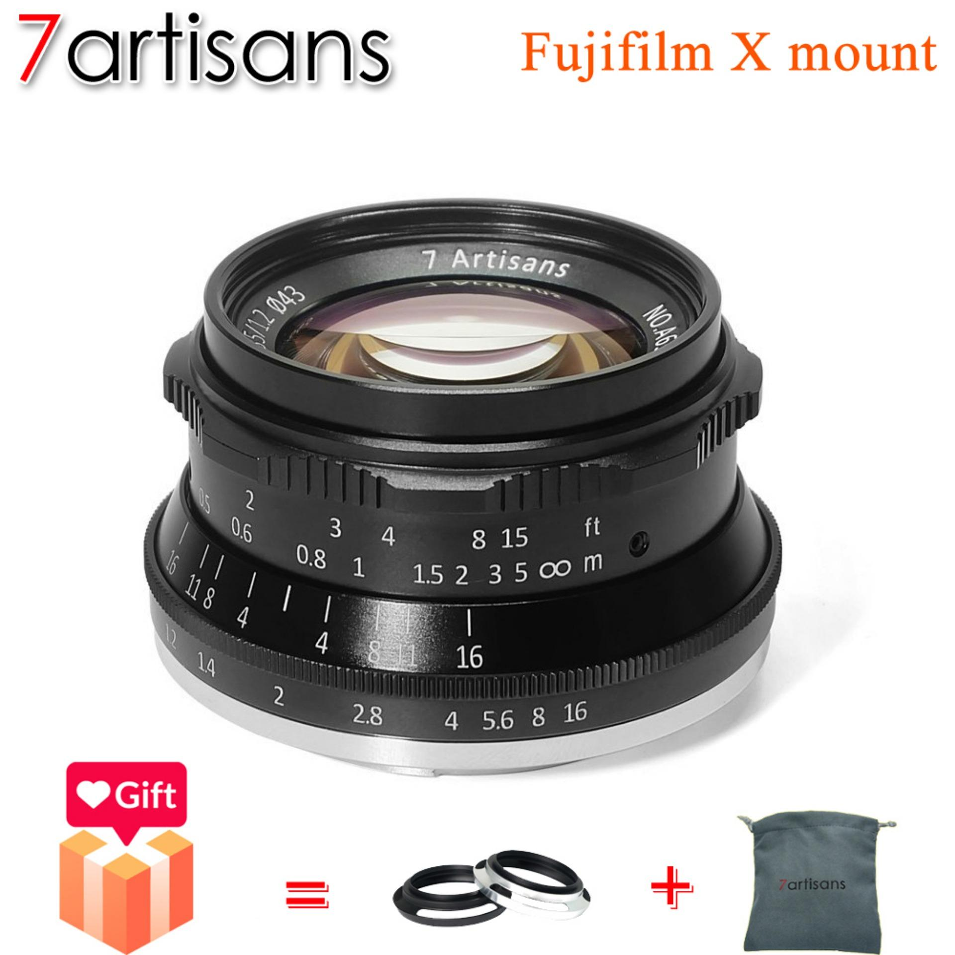 7artisans Fujifilm 35mm F1.2 APS-C Large Aperture Portrait Landscape Manual Focus Micro Single Lens Widely Fit for Compact Mirrorless Camera Fuji X-A1 X-A10 X-A2 X-A3 A-AT X-M1 X-M2 X-T1 X-T10 X-T2 X-T20 X-Pro1 X-Pro2 X-E1 X-E2 (Black)