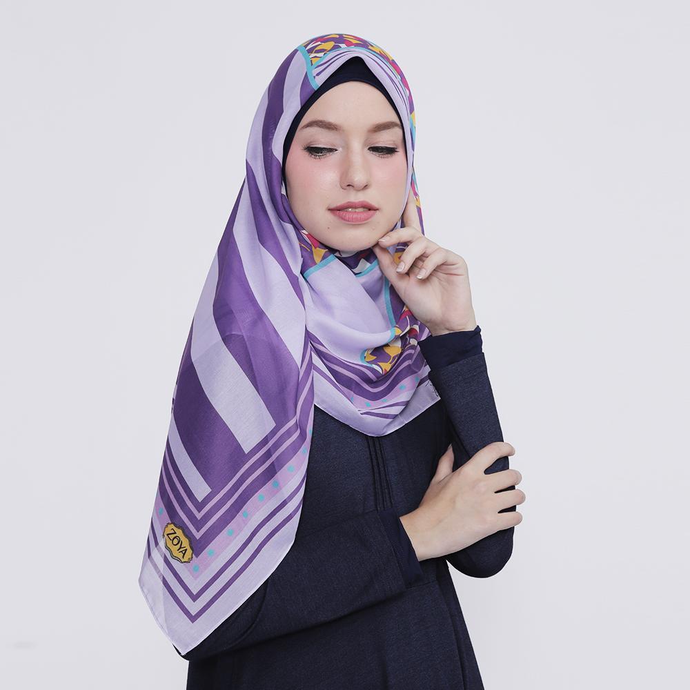 Kerudung Zoya Hijab Segiempat - Fushion Scarf