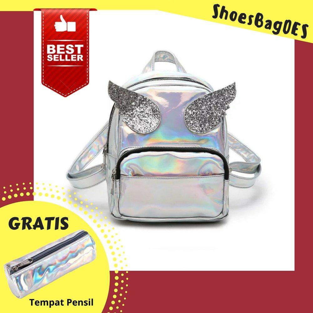 Shoesbagoes - Tas Ransel Mini Wanita Hologram