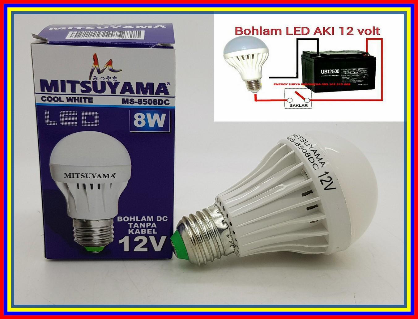 Merk Mitsuyama 8W E27 Lampu Led 12V Dc Led Lampu Solar Cell