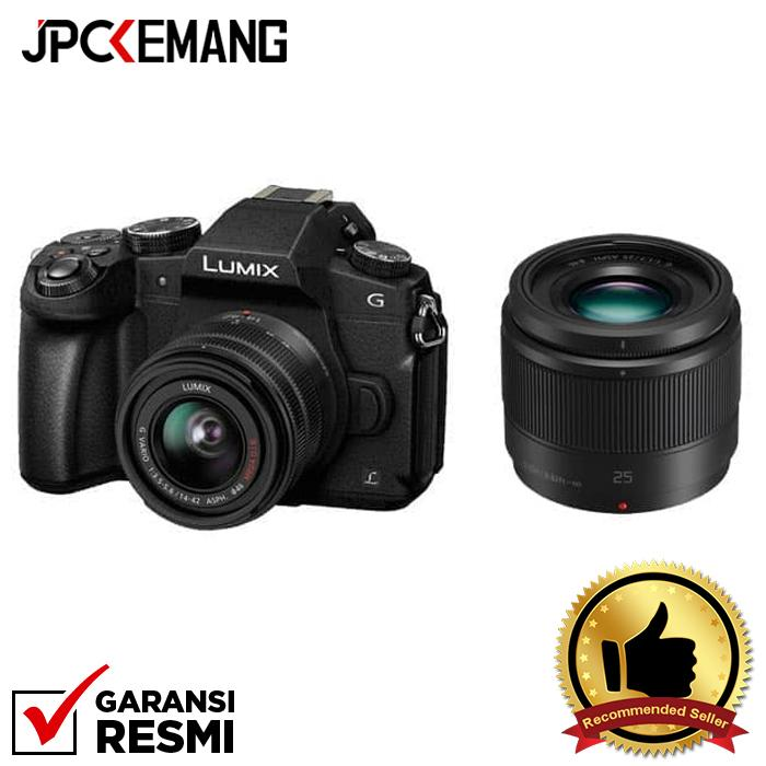 Panasonic Lumix DMC-G85 kit 14-42mm + Panasonic 25mm f/1.7 jpckemang GARANSI RESMI