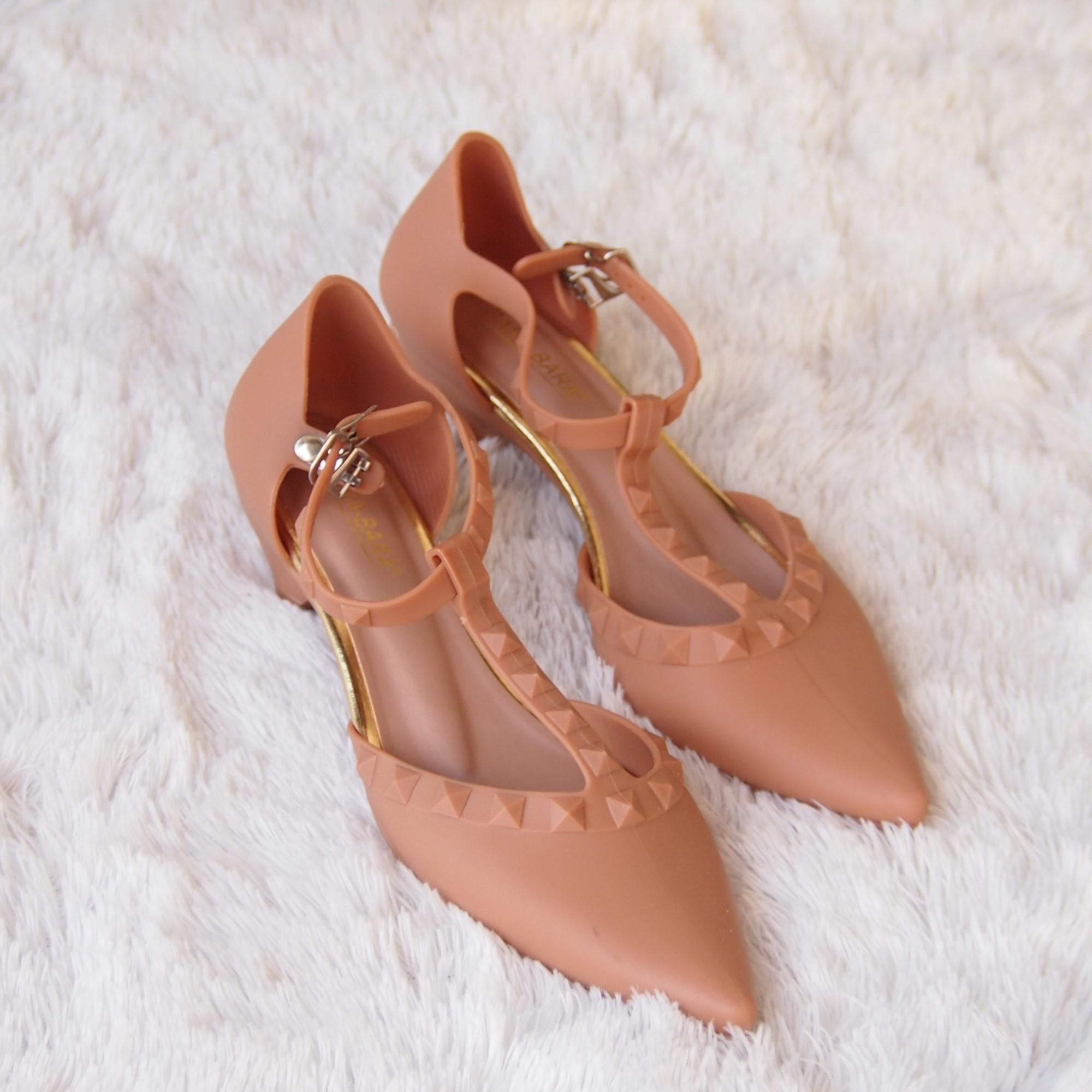 Bara~Bara Jelly Shoes - Sepatu Hak Tinggi Mule Wanita Dari Bara Bara Tinggi  3 87cad6a755