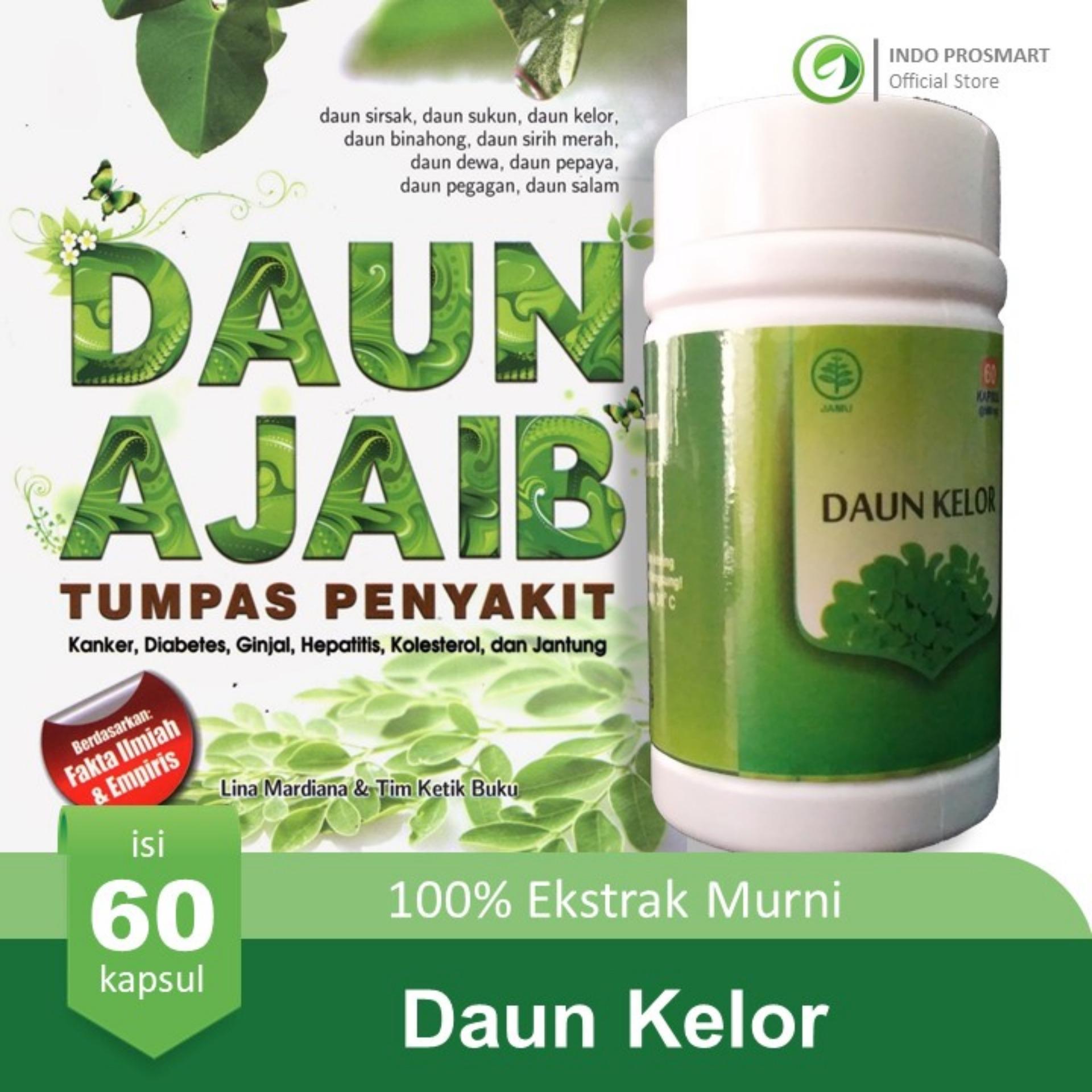 Buy Sell Cheapest Asli Kapsul Daun Best Quality Product Deals Binahong Isi 120 Kelor Moringa Oleifera 60 100 Ekstrak Murni