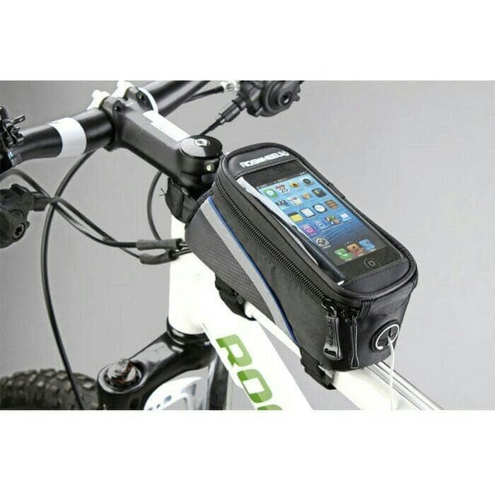 HARGA PROMO!!! Bike Waterproof Bag 5,5 Inc Smartphone Tas Frame Sepeda HP Anti Air - 0lIe6Z