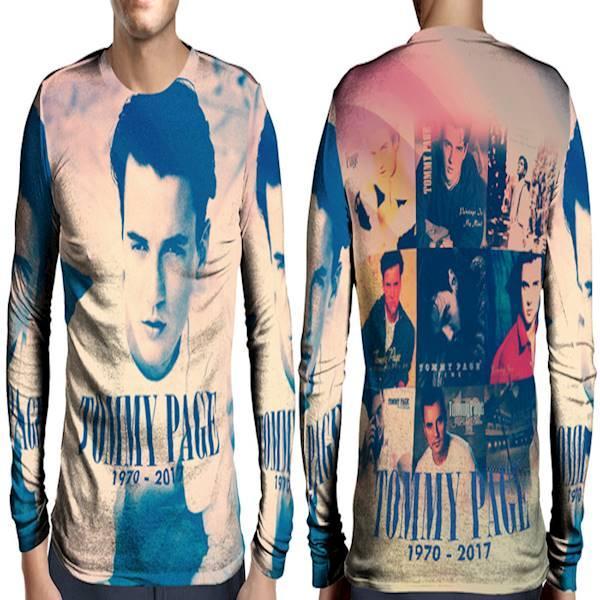 Kaos T-Shirt Lengan Panjang Full Print Custom Tommy Page Art 5