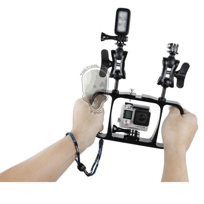 TMC Dual Hand Held Self Timer Diving Equipment Gopro Xiaomi Yi HR365