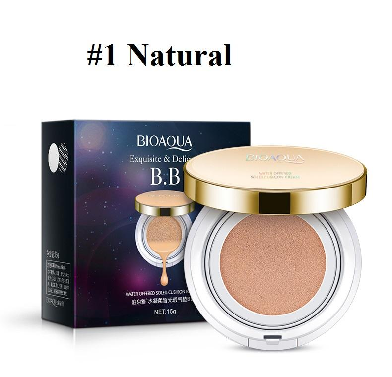Bioaqua Exquisite And Delicate Bb Cream Air Cushion Pack Gold Case Spf 50++ Foundation Make Up Wajah Bersih - 15gr By Luckystore.