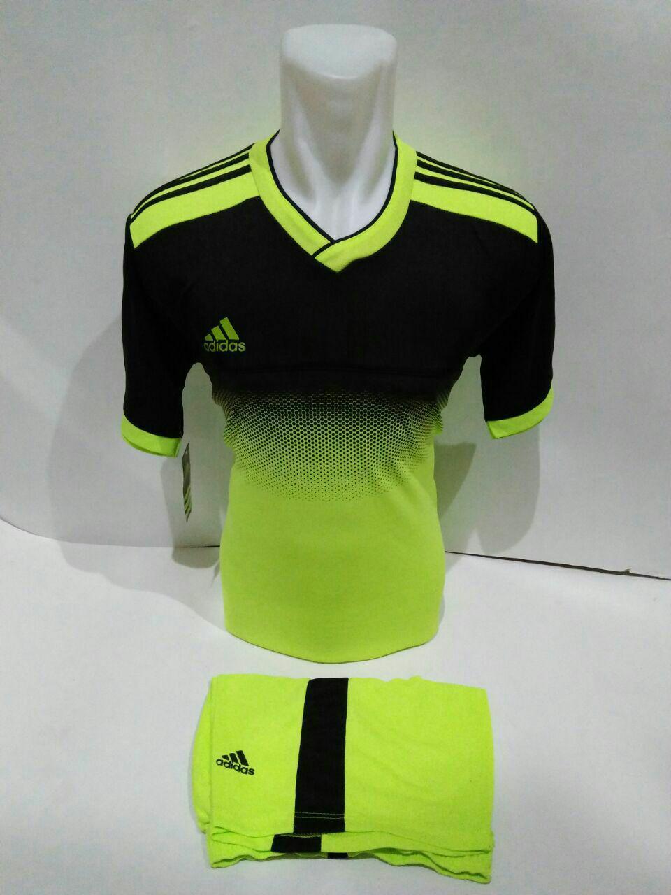 Baju Kaos Jersey Olahraga Setelan Bola Futsal Volly AD 04 Stabilo