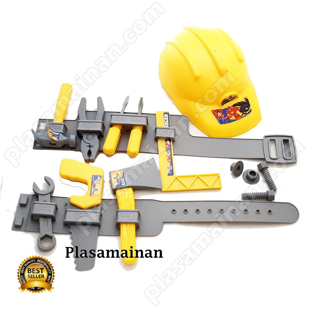 Bb Mart Tool Set Plus Helm Mainan Alat Pertukangan Anak By Bb Mart