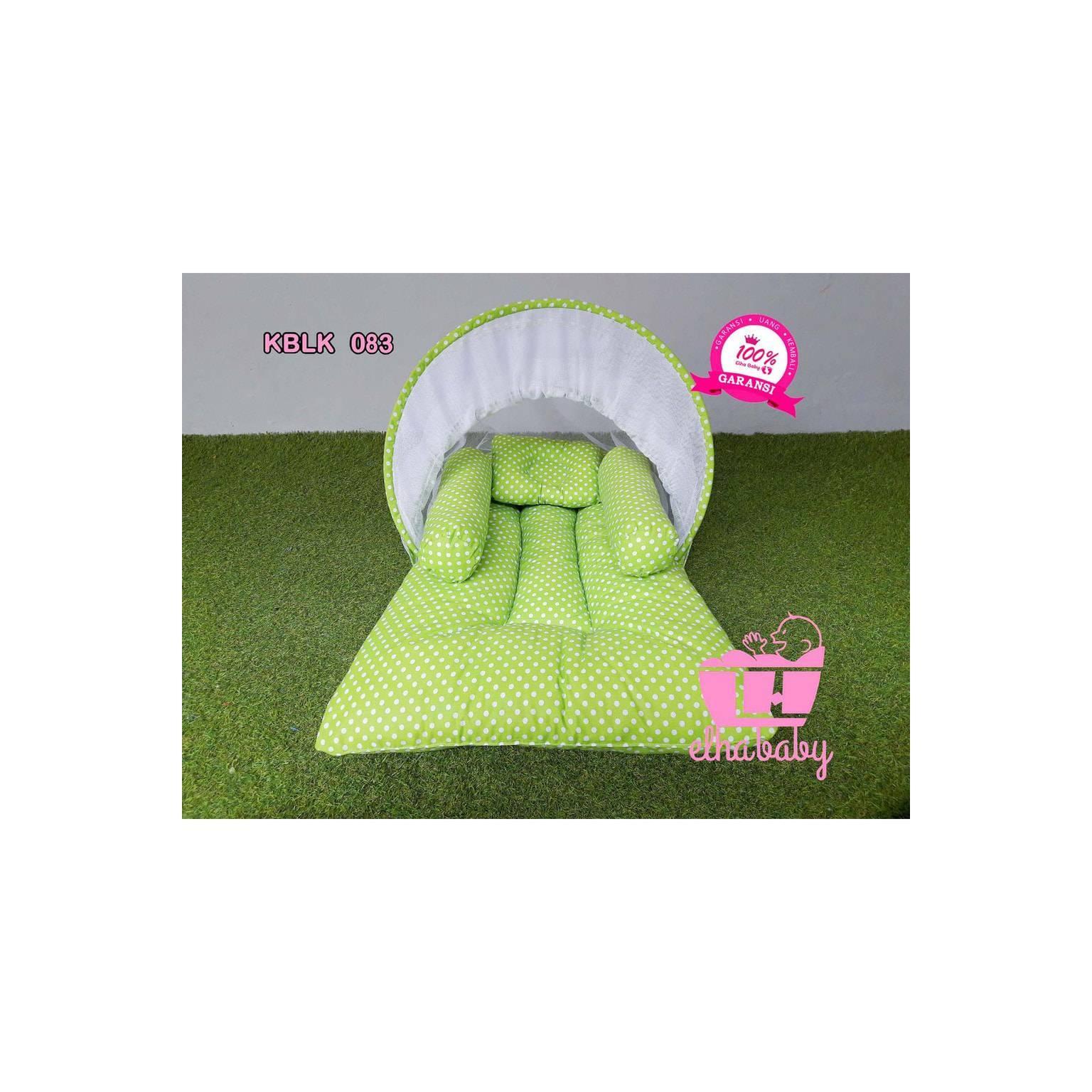 PROMO kasur bayi lipat Lucu Unik murah set kelambu motif Bonus Tas |