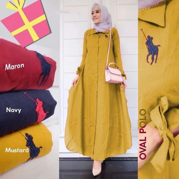 Polo Long Tunik – Baju Muslim Murah Terbaru 2018 Grosir Pakaian Wanita  Busana Pesta Modern Gamis Syari Maxidress Setelan Couple Tunik Atasan Blouse  Celana ... fb3b0f8d75