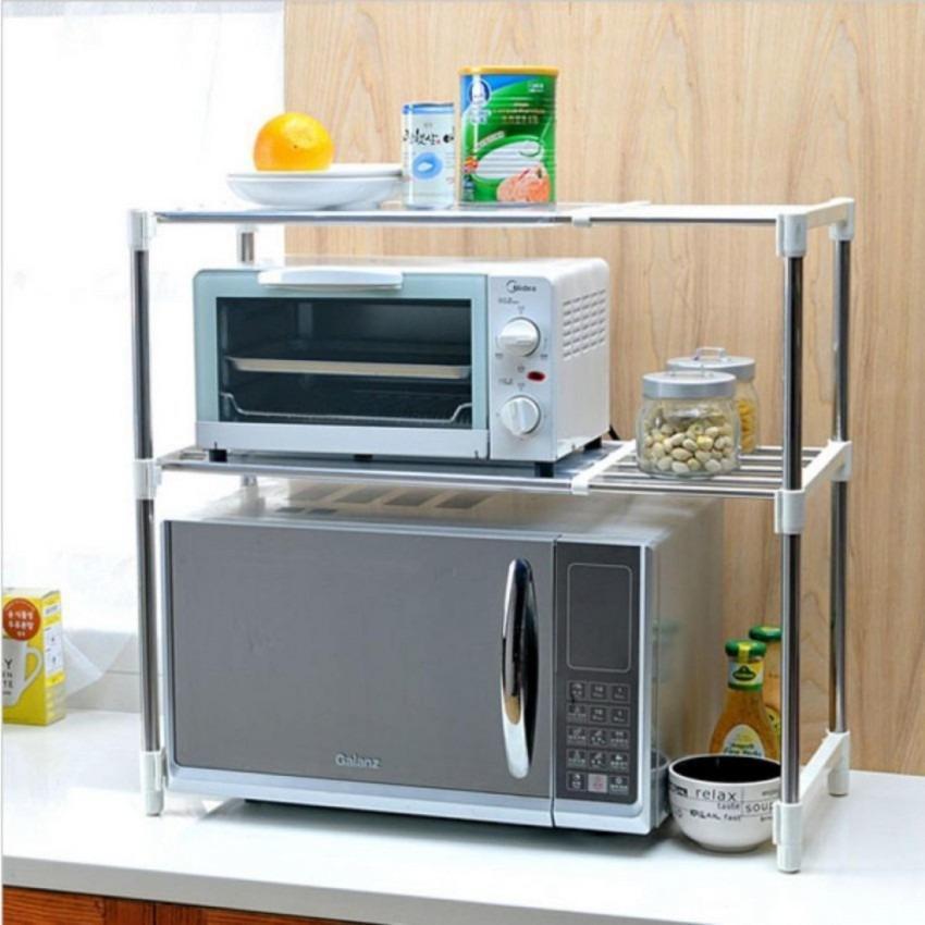 Microwave Storage Rack Rak portable serbaguna 2 susun