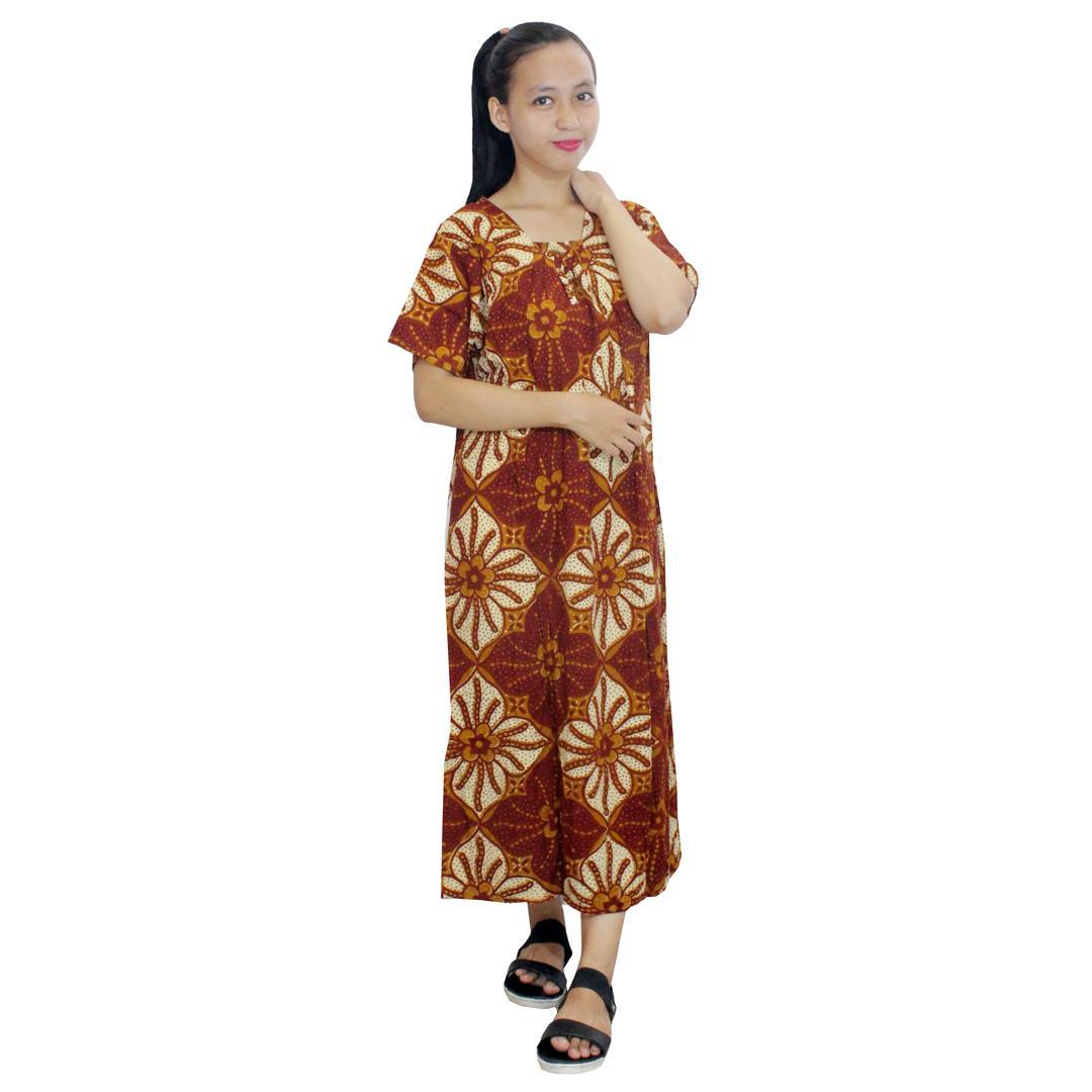 Daster Batik, Daster Lengan Pendek, Baju Tidur, Piyama, Leher Kerut (DPT001-127) Batikalhadi Online
