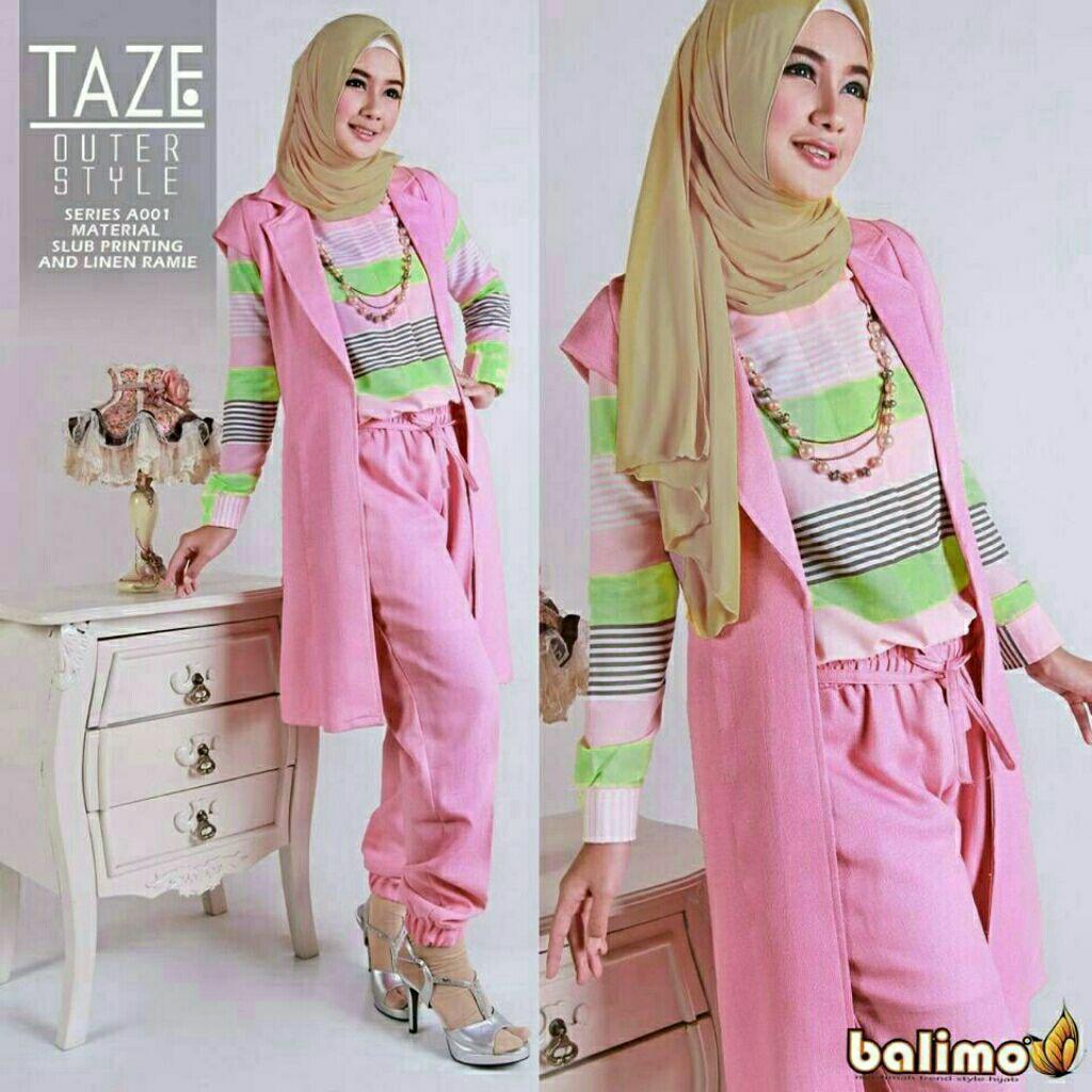 Taze 4in1 /setelan / hijab / baju muslim / hijaber / fashion / casual