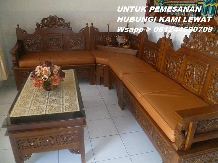 Kursi L Mahkota Ukir Kayu Jati  Jepara Yang Minat Hubungi Kami Lewat Wsapp_08124459O709_Kami