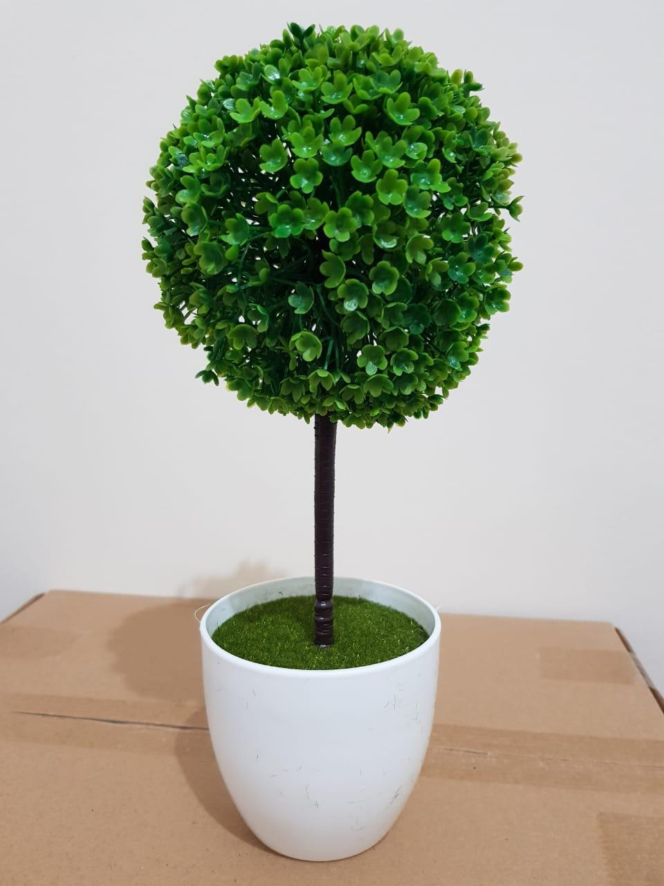 Pohon Musim Semi Pohon Plastik Pohon Dekorasi ruangan Pohon Artifisial - Hijau