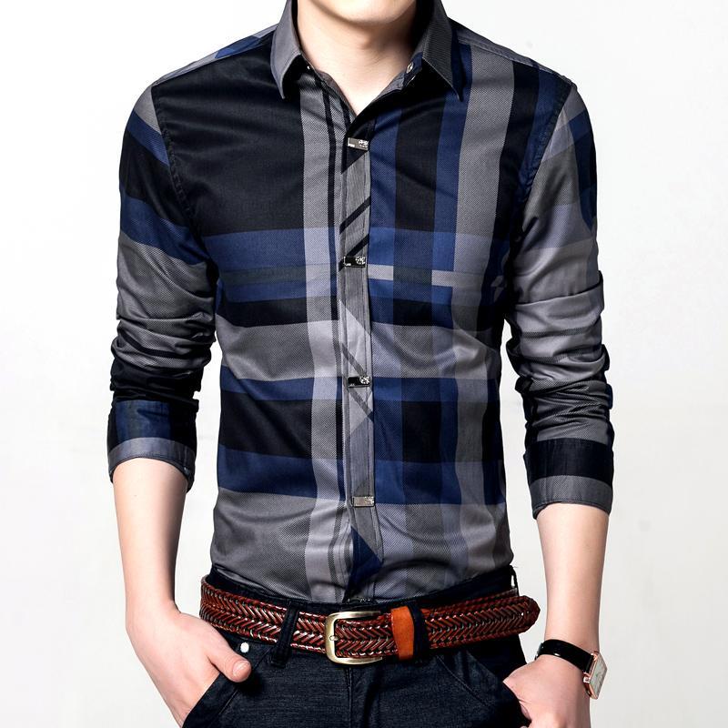 Jual Kemeja Pria Model Tipis Lengan Pendek Berkotak Ukuran Besar Source · Berkotak Versi Korea Lengan pendek biru tua besar bulu