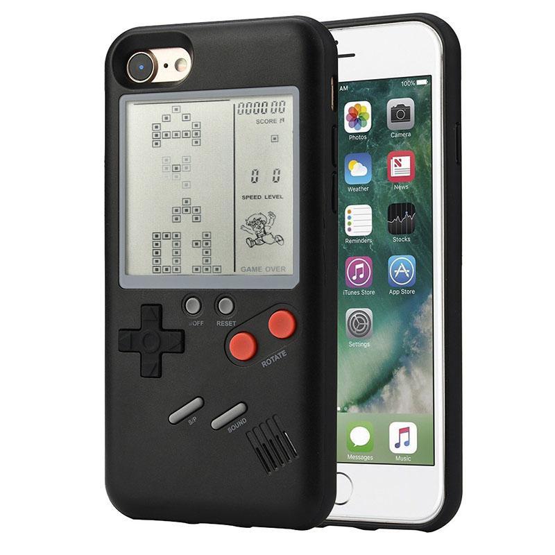 Lb Kreatif Retro Tetris Klasik Penutup Konsol Permainan Cover UNTUK iPhone 6/6 S, 6/6 S PLUS 7/8 7/8 Plus (Tanpa Baterai) Model: Iphone 7 Plus