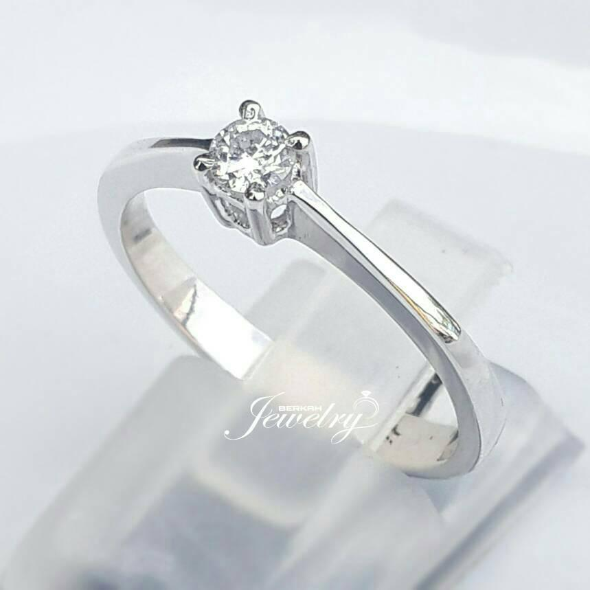NEW PROMO HANYA 2 HARI  Cincin Solitaire Emas Berlian Natural Diamond