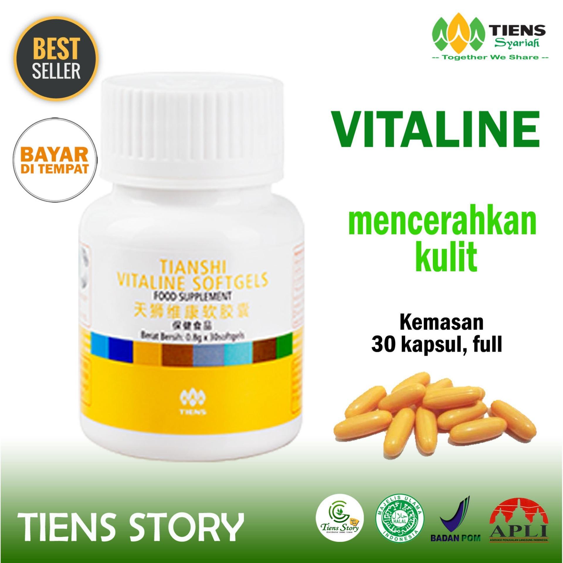 Pemutih Seluruh Tubuh Alami - Vitaline Sofgel 30 Kapsul Full - Best Seller Tiens Story - Bisa Cod/bayar Di Tempat By Tiens Story.