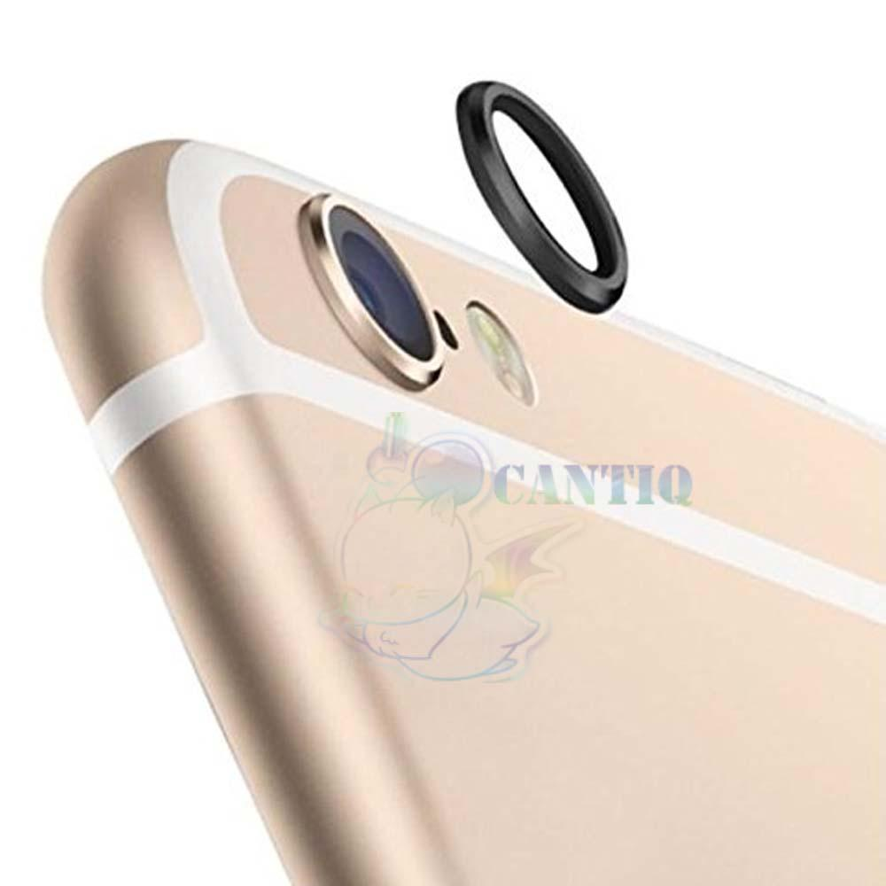 QCF Ring Camera Iphone 6 / Metal Lens Protector Iphone 6G / Pelindung Kamera Apple Iphone 6S Ukuran 4.7 inch - Hitam