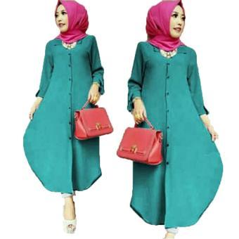 Bandingkan Toko Grateful Fashion Tunik Elsa 3 - Tosca - Best Seller sale - Hanya Rp87.815
