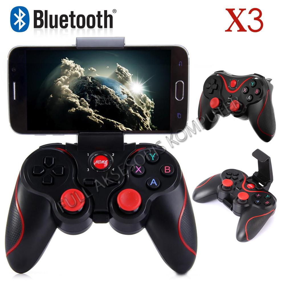 Jual Konsol Game Aksesoris Terlengkap Terios Gamepad T3 Holder Jp Bluetooth Android Smartphone Vr Box Tv Fak X3 Wireless Controller Plus Hitam