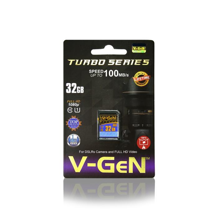SDHC V-GeN 32GB Class 10 Turbo 100MB/S - SDCard VGEN Memory Kamera