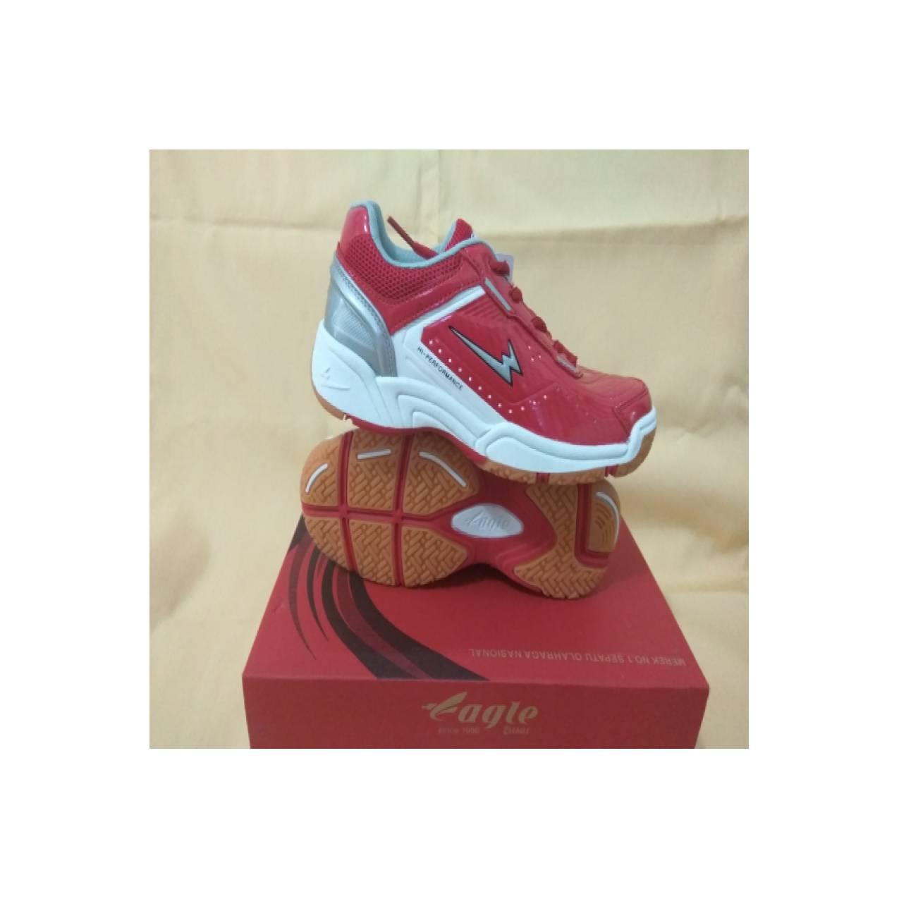 Harga Jual Sepatu Eagle Premier Badminton Original Berkualitas Murah Jr Premiere Warna Merah Dan Orangeidr265000 Rp 326400