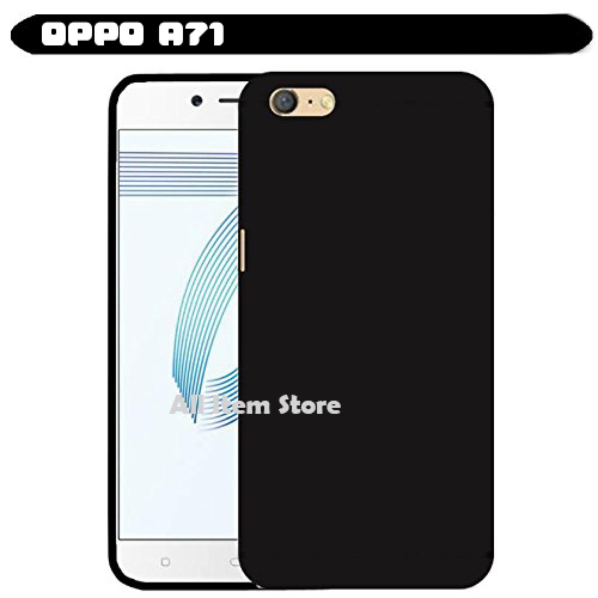 Rp 5.800. Case Slim Black Matte Oppo A71 Baby Skin Softcase Ultra ...