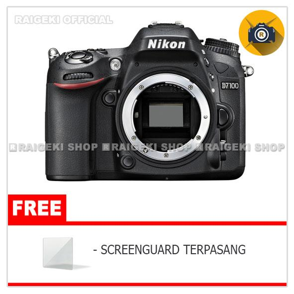 Nikon D7100 Body Only Kamera Dslr - Free Screen Protector By Raigeki Shop.