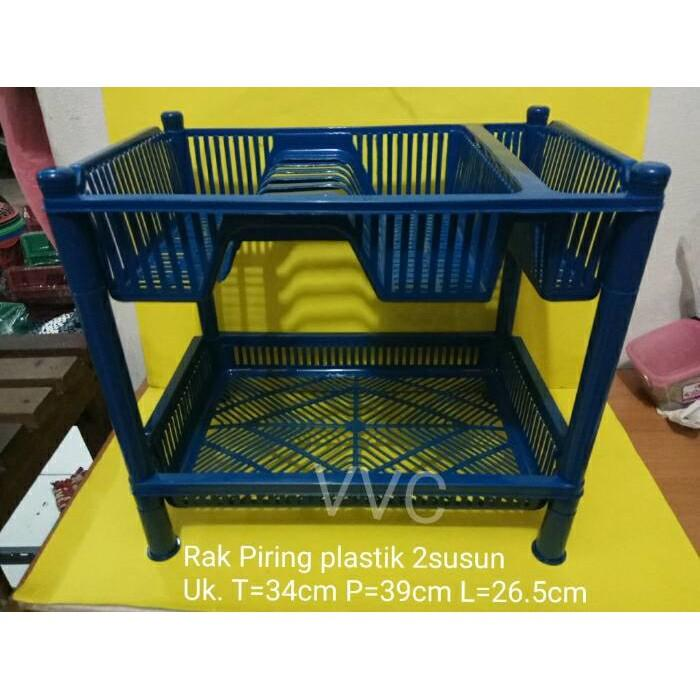 Rak Piring Plastik 2 Susun - Pzzvwk
