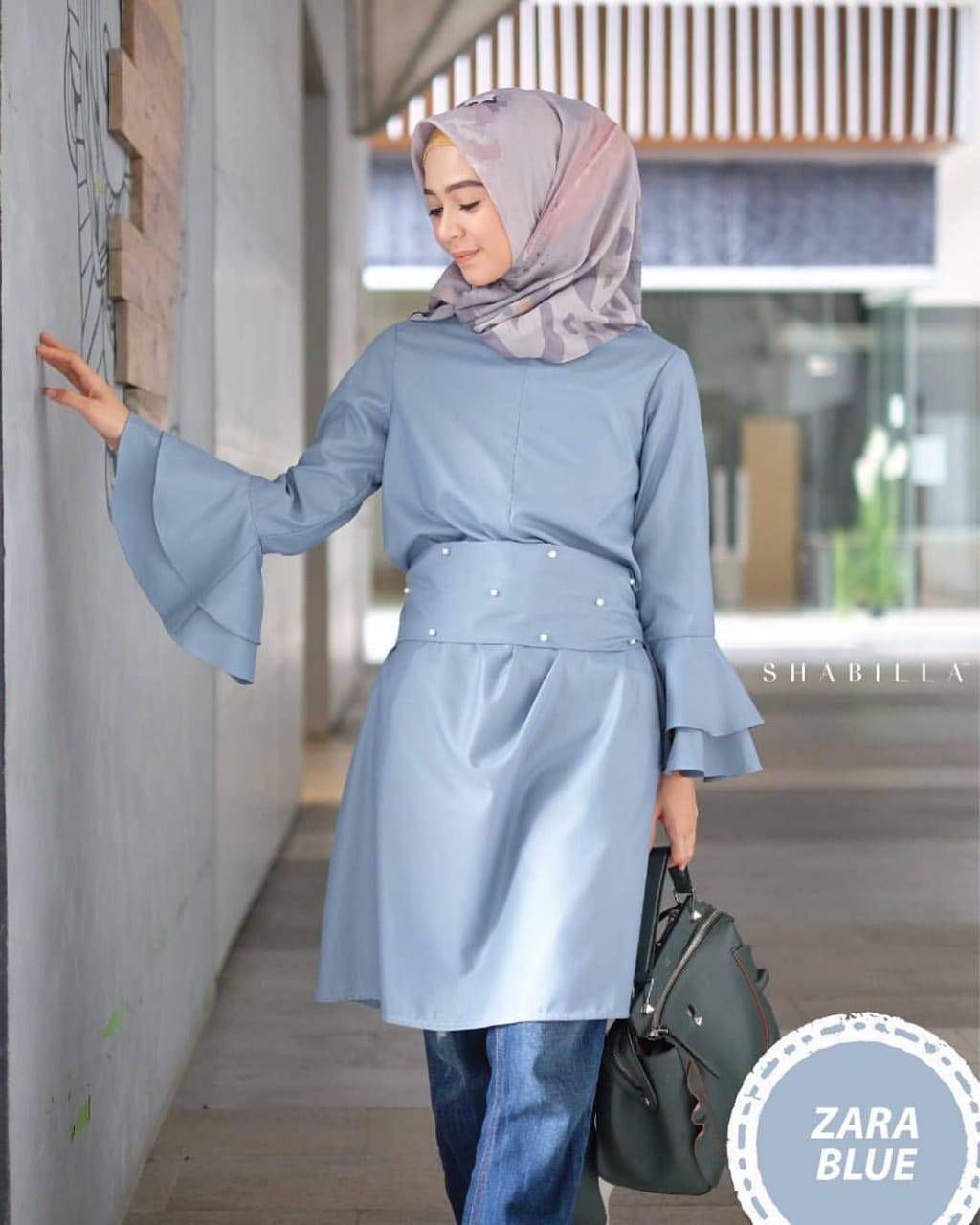 Baju Muslim Original Blouse Zara Tunik Baloteli Tunic Katun Baju Casual Panjang Wanita Atasan Kerja Modis Fashion Hijab Modern Terbaru Pakaian Wanita Trendy