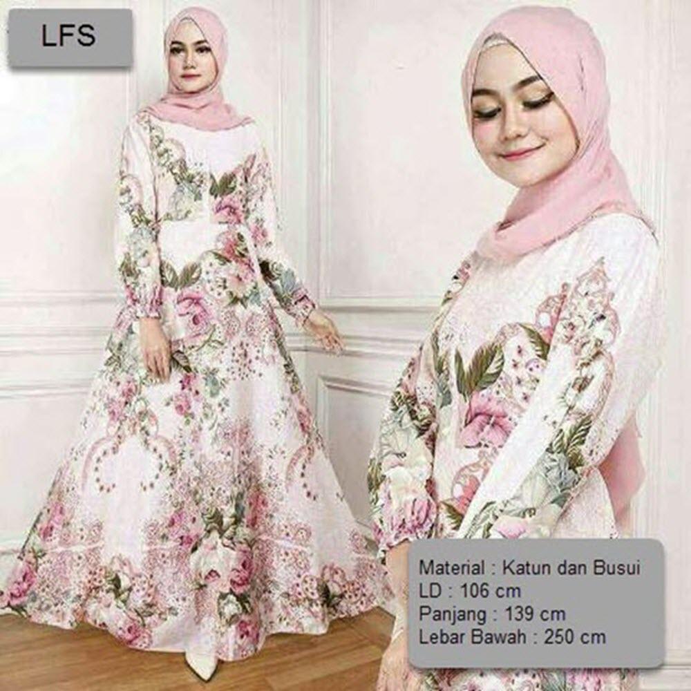 Dress Gamis Baju Muslim Rossa / Gamis Terusan Maxi Hijab Syar'i/ Syari Simple Elegant / Baju Muslim