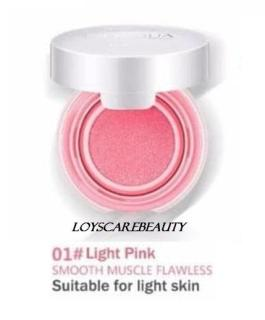 BIOAQUA BLUSH ON CUSHION SMOOTH MUSCLE FLAWLESS ORIGINAL - 01 Light Pink thumbnail