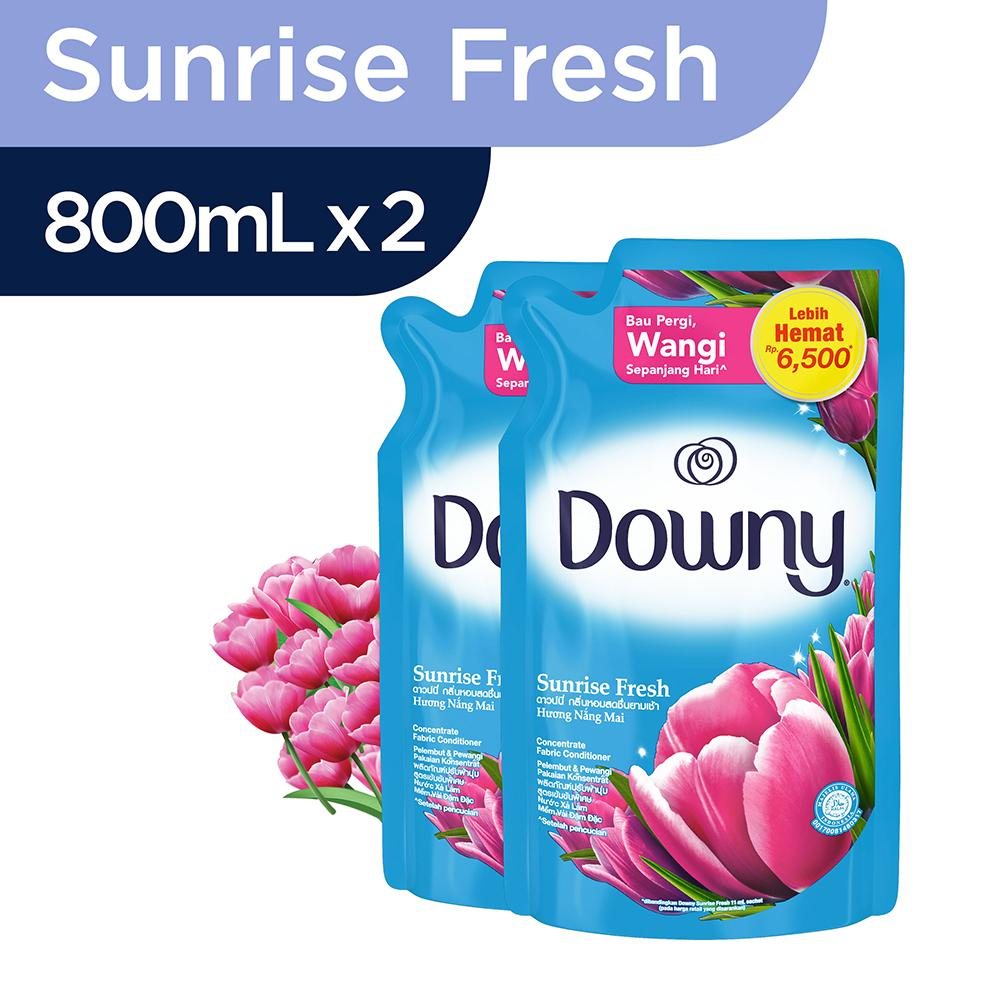 Downy Sunrise Fresh Refill 800ml - Paket Isi 2 By Lazada Retail Downy.