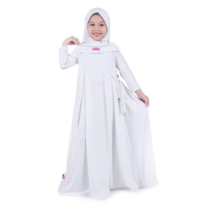 ... L Wanita GAMIS. Source · Baju Muslim Anak Perempuan Gamis Jersey Putih Putih / Andam26