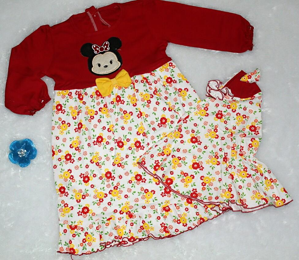 Baju Muslim Bayi Anak - Gamis Bayi Anak Tsum Tsum