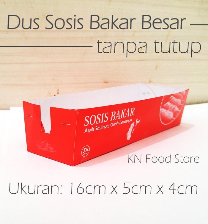 Dus Sosis Bakar Jumbo Besar Tanpa Tutup - Dus Sosis Bakar 16 cm 50 pcs - 6b003e2e83