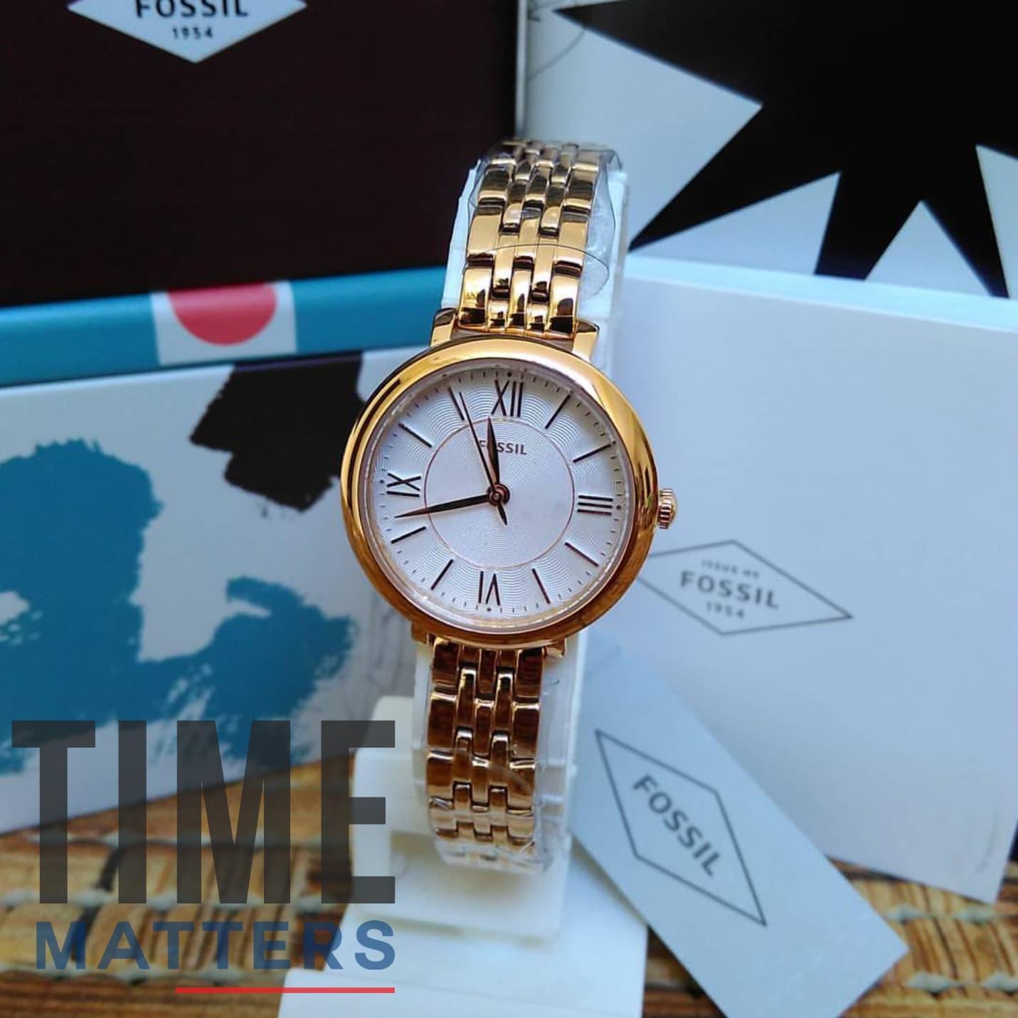 Jual Jam Tangan Wanita Fossil Es3799 Original Harga Rp 1610000 Heather White Leather Watch Es 3276